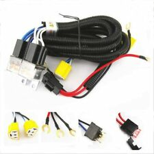 Ceramic H4 Headlight Relay Wiring Harness 2 Headlamp Light Bulbs Socket Plug