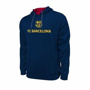 FC Barcelona Hyper OL Men's Blue/ Gold Pullover Hoodie Sweatshirt