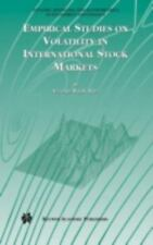 Empirical Studies on Volatility in International Stock Markets-ExLibrary