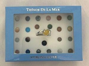 Tresor De La Mer Sterling Silver 925 Interchangeable Stone Dolphin Ring Size 7.5