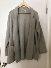Madewell Light Gray Spencer Open Hip Length Knit Sweater Coat Cardigan L