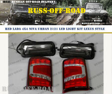 LADA NIVA 4x4 2121 URBAN HEADLIGHTS AND TAIL LED LIGHT KIT LEXUS STYLE RED