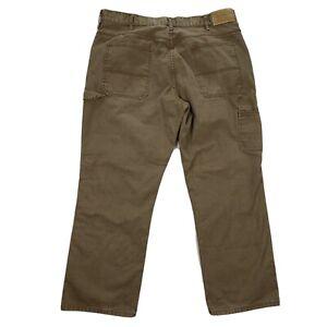 MEN'S 38 X 30 C.E. SCHMIDT Workwear BROWN CANVAS CARPENTER UTILITY JEANS PANTS