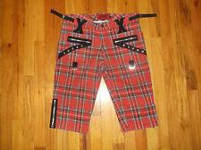 TRIPP NYC Tartan Plaid PUNK Skater Goth Capri Style Shorts Pants Sz 11