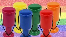 More details for lgbt rainbow flag set of plastic collection boxes donation fundraising boxes