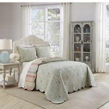WAVERLY Garden Glitz Bedspread Collection, King, Vapor Includes 2 Shams Open Box