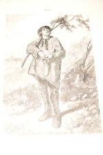 GAVARNI GRAVURE 1869 MAI LES DOUZE MOIS DERNIERE OEUVRE  R1530