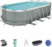"New Bestway 18' X 9'X 48"" Frame Above Ground Swimming Pool set ( Ready To Ship)"