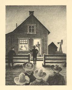 Thomas Hart Benton lithograph  82174