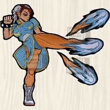 Street Fighter 2 Chun Li Big Embroidered Patch Character Capcom Super China