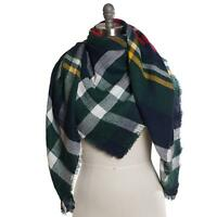 New Collection XIIX Southwestern Plaid Runway Blanket Wrap Scarf Shawl $38 Tags