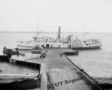 Historical Photograph Paddle Wheel Steamship Greenport  1910  8x10