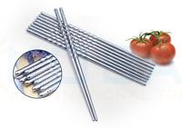 Chopsticks 2/5/10Pairs Metal Reusable Korean Chinese Stainless Steel Chop Sticks