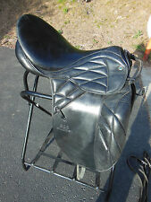 "STUBBEN Scandica NOVA DL DRESSAGE Saddle 16.5"" Seat w. stirrup leathers"
