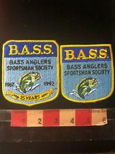 BASS ANGLERS SPORTSMAN SOC Fishing 2 Patch Lot (25 Year One A Little Rough) C985