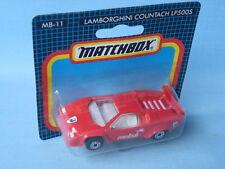 Matchbox Lamborghini Countach Red Body Italian Sports Toy Model Car 70mm in BP