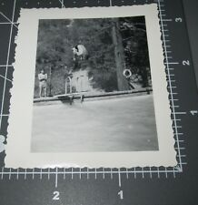 MAN in MID AIR DIVE Swimmer Cannonball Diving Board Muscle Vintage Gay Int PHOTO