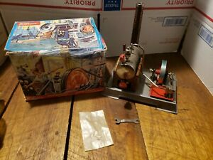 Vintage Original Wilesco D5 Steam Engine Kit Toy In Original Box W. Germany