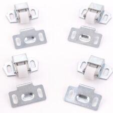 White Plastic Roller Catch for Cupboard Doors for Caravan Motorhome Boat C129