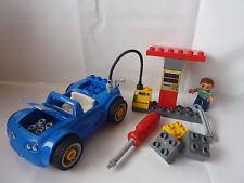 LEGO Duplo Tankstelle - Werkstatt mit Reifenwechsel - blaues Auto - Set 5640