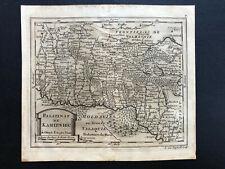 015 Antique Original 1711 map Kamyanets Podilsk of Ukraine, Poland Turkey RARE!!