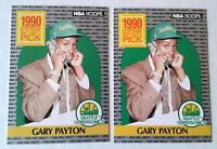 GARY PAYTON1990 HOOPS LOTTERY PICK #394 LOT 2 WELL CENTERED CARDS MINT