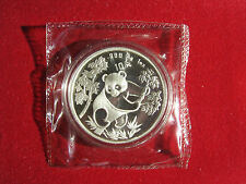 1992 1Oz Silver Panda Double sealed Coin , large date.