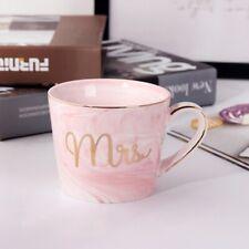 Marble Ceramic Mugs Gold Plating Couple Lover's Gift Morning Mug Milk Coffe B6F4