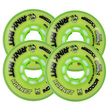 RINK RAT Wheels 76mm 78a HORNET XX 4-Pack Yellow/Green Inline Indoor Hockey
