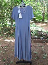 "Laura Ashley "" Fit & Flair ""  Smoke Blue Silk Dress Size USA 6 FREE S/H"