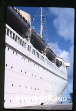 1963  kodachrome Photo slide Ship MS Kungsholm bridgetown  Swedish American