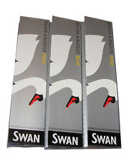 3 PACKS OF SILVER SLIM KING SIZE SWAN THIN CIGARETTE PAPERS - 32 PAPERS PER PACK