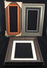 Lot 3 Vintage Ornate Carved Wood Frames Museum quality Guesso Gilt Felt