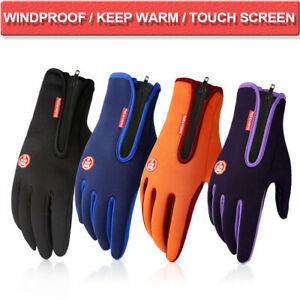 Touch Screen Windproof Waterproof Gloves Winter Warm Ski Snowboard Cycling Mitts