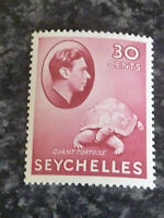 SEYCHELLES POSTAGE STAMP SG142 CARMINE 30 CENTS LIGHTLY-MOUNTED MINT