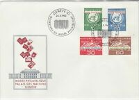 Switzerland 1962 UN Museum Palace of Nations ONU Slogan FDC Stamps Cover Rf25417