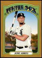 Jose Abreu 2021 Topps Heritage 5x7 Gold #144 /10 White Sox