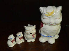 Vintage Shawnee Puss 'N Boots Cookie Jar, Creamer and Salt and Pepper Shakers