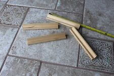 Lot of 4 Scrabble Game Wooden Wood tile racks holders stands round edge craft