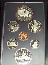 1981 Canada Proof Set In Box+COA+Toned+Double $ Railroad Commemorative Silver