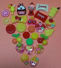 Dessert Candy Resin Flatback Cabochon Miniature Food Lot DIY Decoden Phone Kit