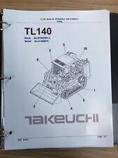 Heavy equipment manuals books for takeuchi ebay new listingtakeuchi tl140 crawler loader parts manual sn 21400011 and up cheapraybanclubmaster Choice Image