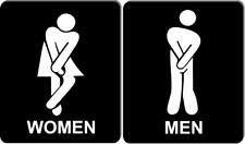 Funny bathroom sign set 8 1/2 X 10 RESTROOM SIGN Aluminum men I have to go set