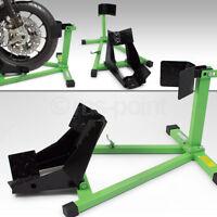 Bituxx Motorradwippe Motorradständer Motorrad Montageständer Vorderrrad Grün