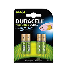 GENUINE DURACELL AAA RECHARGEABLE BATTERIES NiMH 900MAH PRECHARGED HR03 DURALOCK