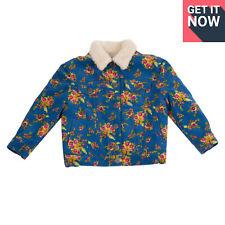 RRP €930 GUCCI Corduroy Jacket Size 4Y Bouquet Sherpa Inside Padded Sleeve