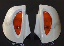 Blanc Rétroviseur Miroirs Clignotant Lentille Pour BMW R850RT R1100 R1150 RT RTP