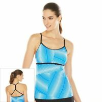 NWT Women's Nike Striped Racerback Tankini Top Choose Size White/Blue