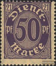 alemán Imperio d21 nuevo con goma original 1920 sello de franqueo oficial