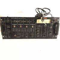 Optimus SSM-1250 Rack Mount DJ Mixer Stereo Sound Mixer/w Phono & Mic Input